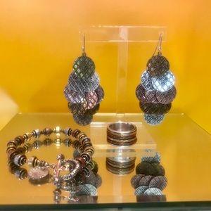 Jewelry - Brass/copper/silver jewelry set